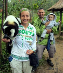 During our move out to Toamasina, we stopped at a private lemur reserve. There the lemurs were friendly and used to people, as you can see! It was a lot of fun!