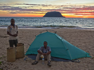 During the setup trip, Adam, our YWAM co-worker Joe, and our future home builder Herdini, stayed in a tent on the beach on Nosy Mitsio.