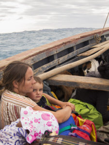 One of our first boat rides to/from Nosy Mitsio - caught in a small storm and had to turn back home!