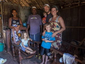 One of the families on our team with their homestay family.