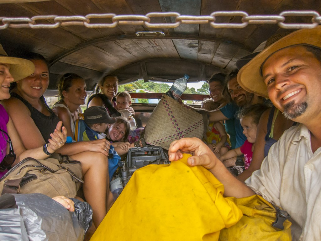 Our team packed into the back of a truck for transport (the only option!) to Ambilobe from the Port.
